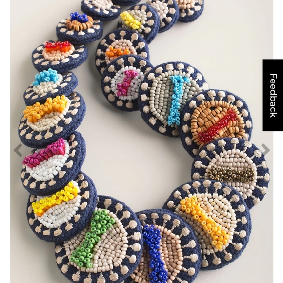 💜Chicos Bali Multicolored Beaded Necklace